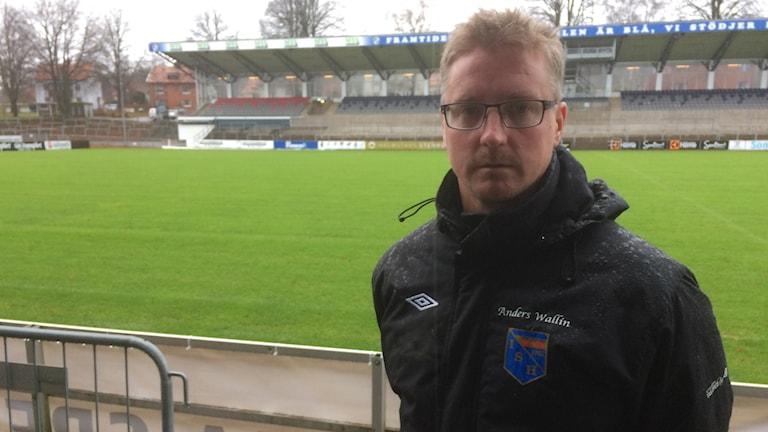 Anders Wallin, tränare för IS Halmia.