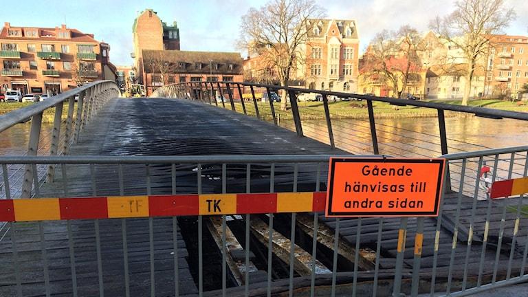 bron som brann i Halmstad