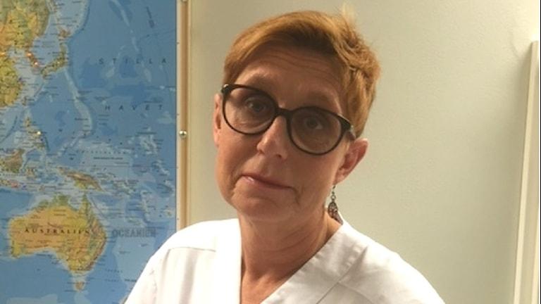 Barnmorskan Anneli Noréus är chef på avdelning 10 BB och gynekologi på sjukhuset i Halmstad.