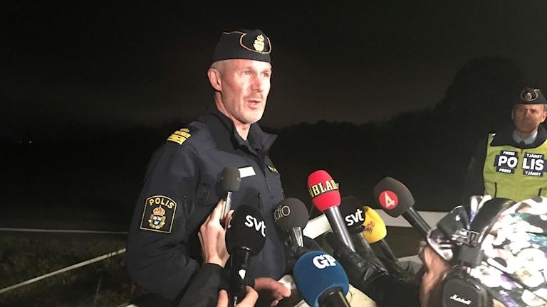 Christer Bartholdsson, lokalpolisområdeschef i Falkenberg. Foto: Madelene Sandin/Sveriges Radio.