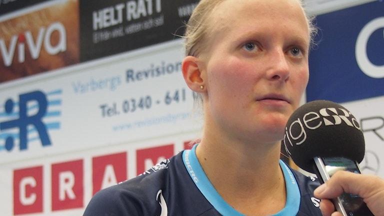 Camilla Halldén i Warbergs IC. Foto: .Wilton Ljunggren/Sveriges Radio