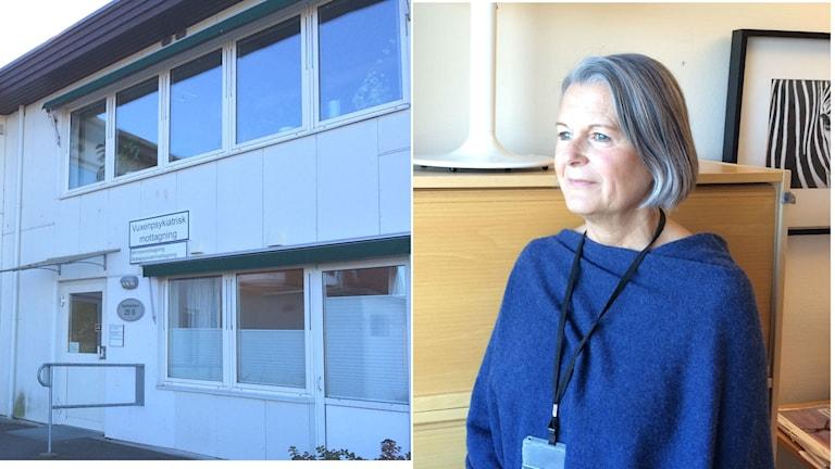Linda Hedberg som är avdelningschef på den vuxenpsykiatriska mottagningen i Varberg