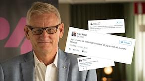 Carl Bildt. Foto: Åsa Stöckel/Sveriges Radio