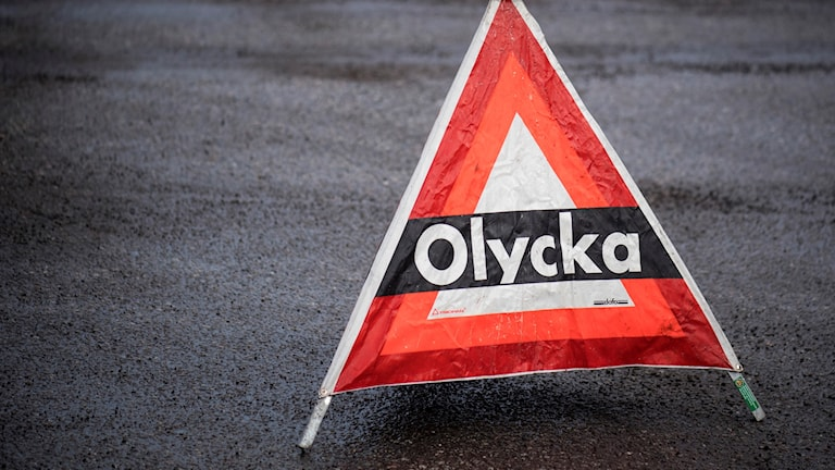En bil har börjat brinna på motorvägen söder om Kungsbacka.