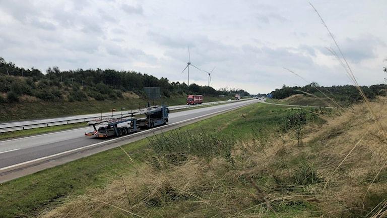 E6 under onsdagens trafikproblem.
