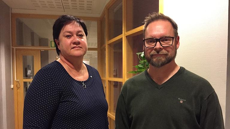 Kalle Sundvall (M), ordförande socialnämnden Kungsbacka Eva Borg (S), oppositionsråd