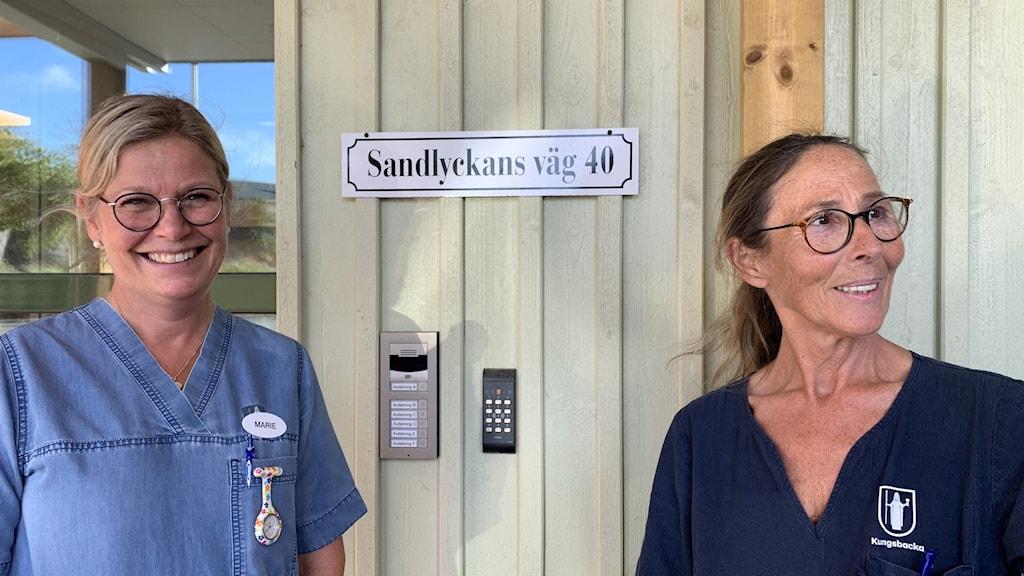 Marie Ansas och Kerstin Olsson på Sandlyckan i Kungsbacka.