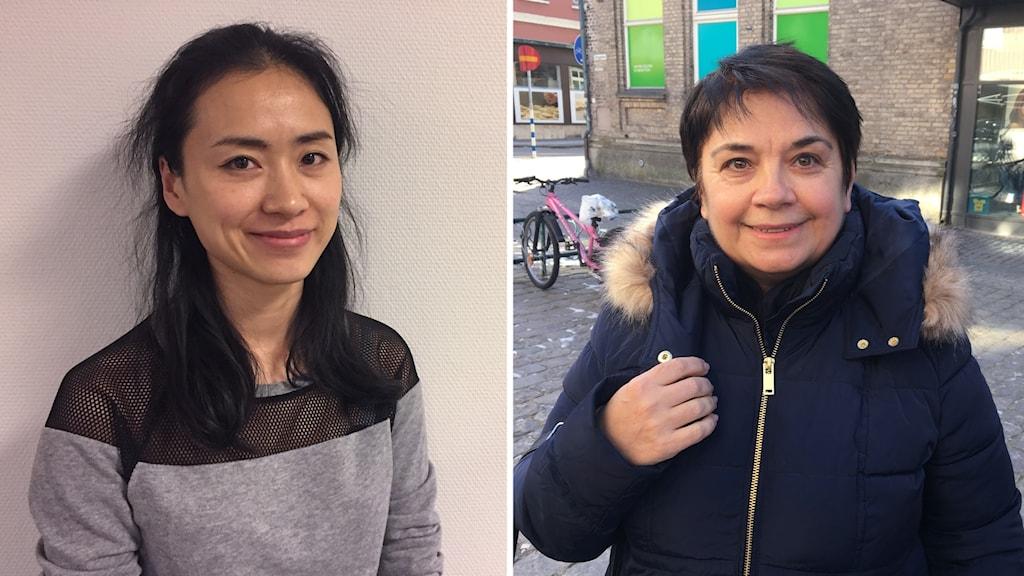 Grace Blomquist från China och Muradie Salibram från Bulgarien ska båda uppmärksamma den internationella kvinnodagen med blommor och något gott att äta.
