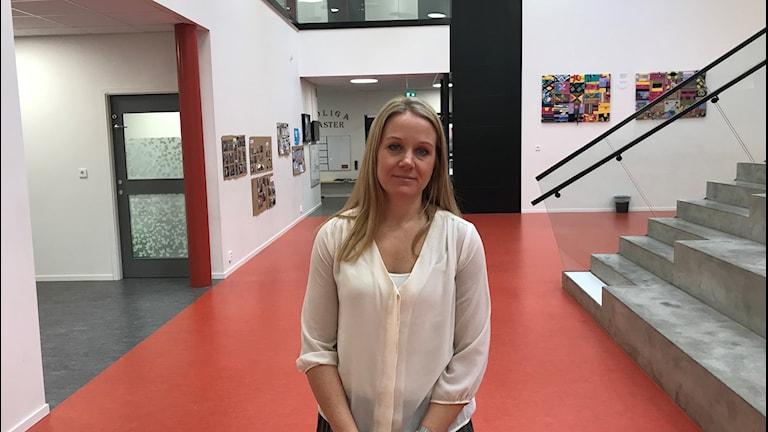 Stina Andersson, Lärarförbundets ordförande i Hylte.
