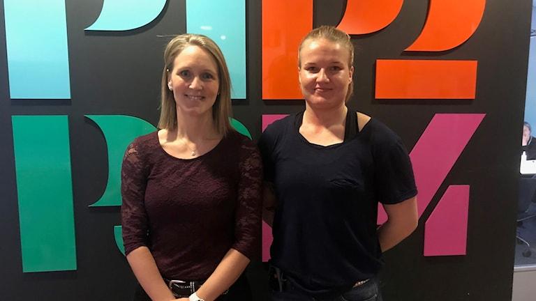 Johanna Christoffersson och Hanna Strandahl.