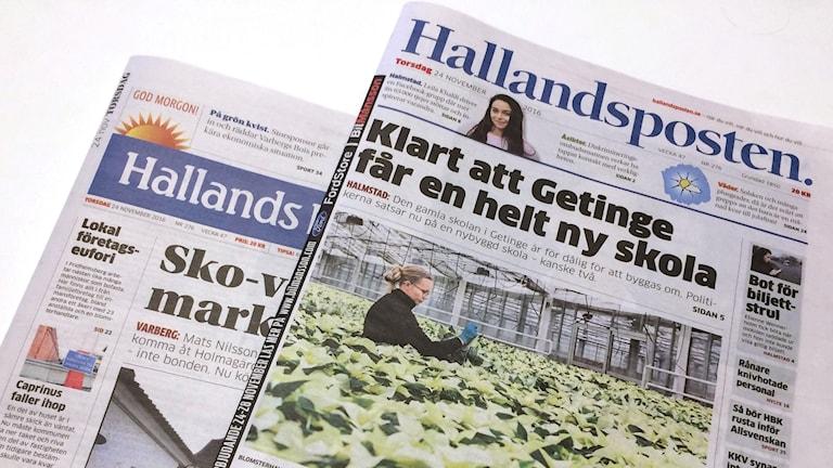 Hallands nyheter och Hallandsposten. Foto: Sveriges Radio.