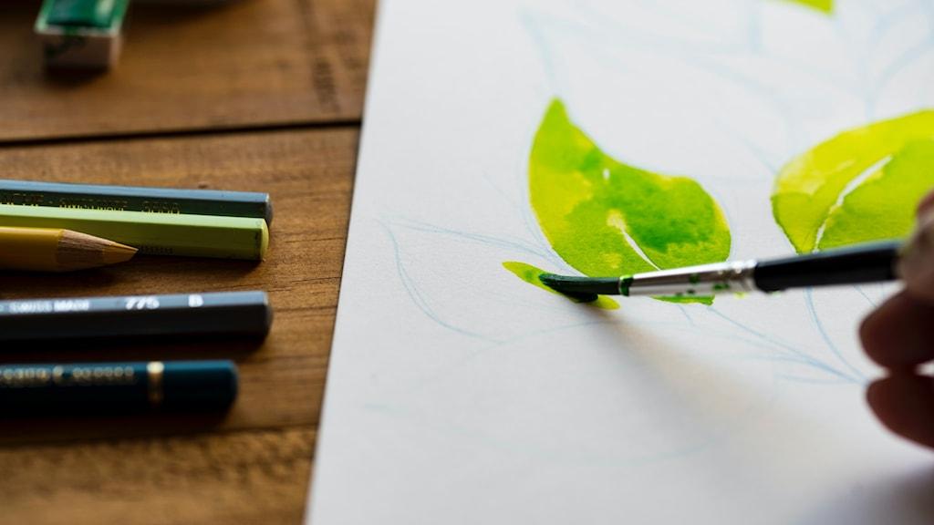 Målande, kreativitet