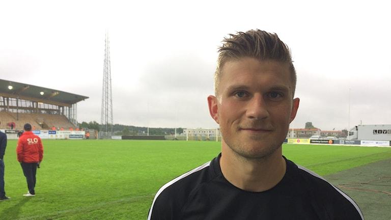 Erik Pärsson Falkenbergs FF. Foto: Patric Ljunggren/Sveriges Radio