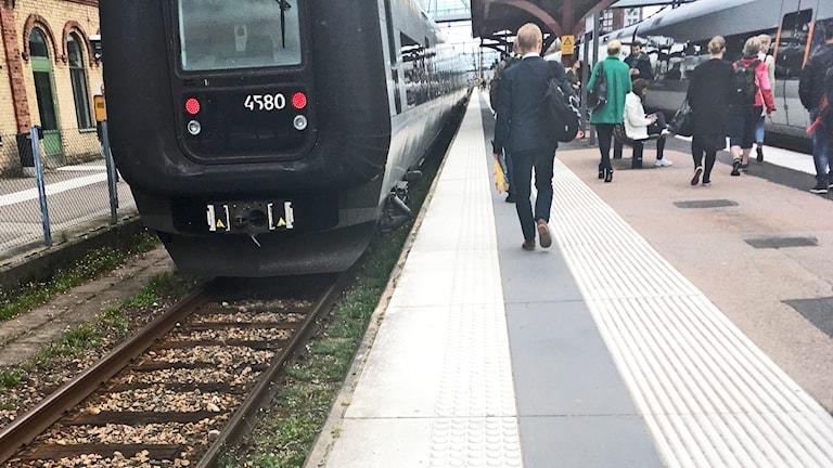 Öresundståg i Halmstad.