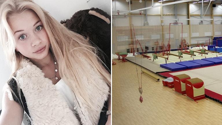 Cassandra + gymnastikhall, splitbild