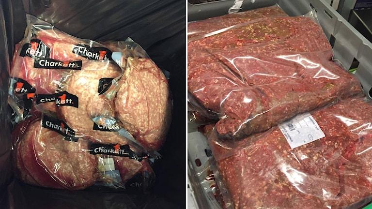 kött, köttfärs som behöver slängas, splitbild