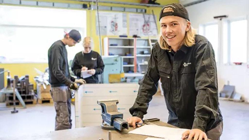 Elev på Elof Lindälvs gymnasium.