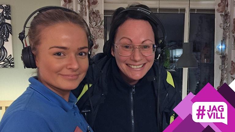 Undersköterskorna Jenny Salén och Sanna Andersson