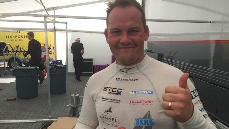 Alex Andersson från Falkenberg som tävlat i STCC i helgen. Foto: Ingemar Johansson