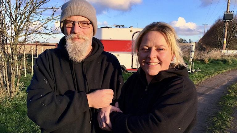 Jessica Wendel lånar ut sin husvagn till en hemlös.