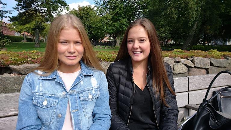 Wilma Hansson och Selma Kullermar