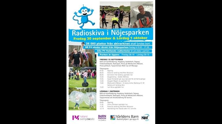 Program för Radioskivan i Varberg.