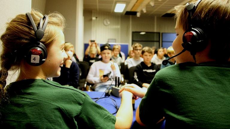 Hilla Lilja tävlade tillsammans med Axel Jungermann för Nova Montessoriskola i Kungsbacka.