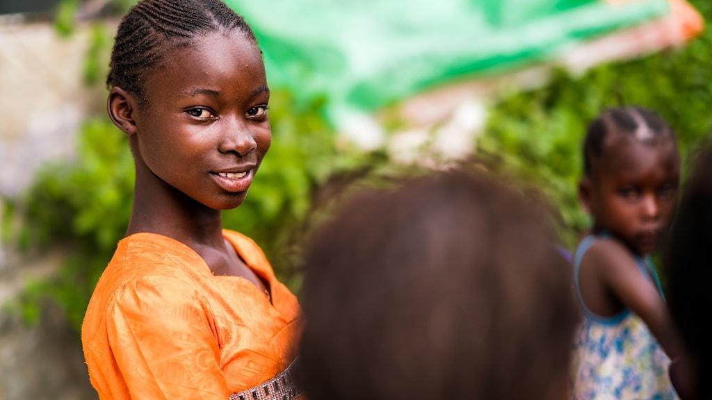 Flicka i Senegal