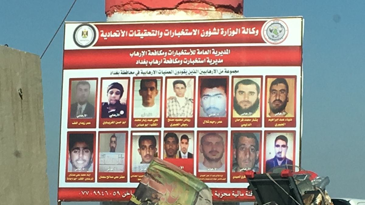 """Eftersökta """"terrorister"""" i provinsen Anbar i Irak. Foto: Katja Magnusson/Sveriges Radio."""