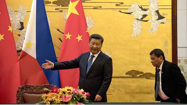 Filippinernas president i Kina.