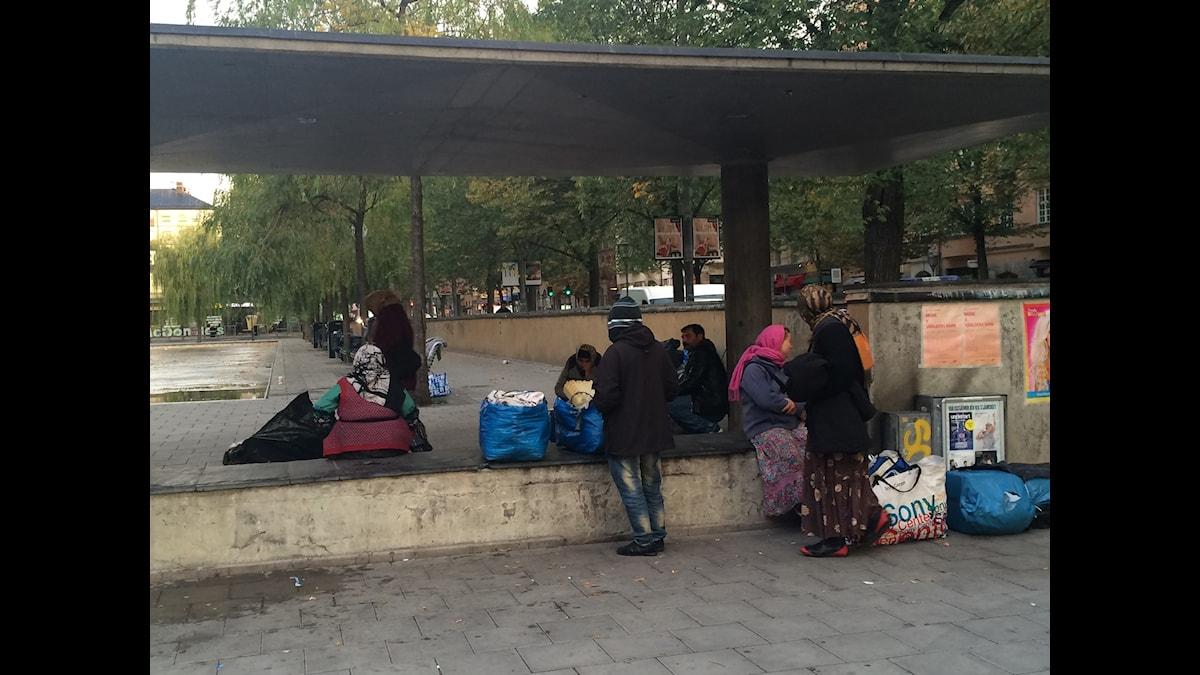 EU-migranter läger sveavägen