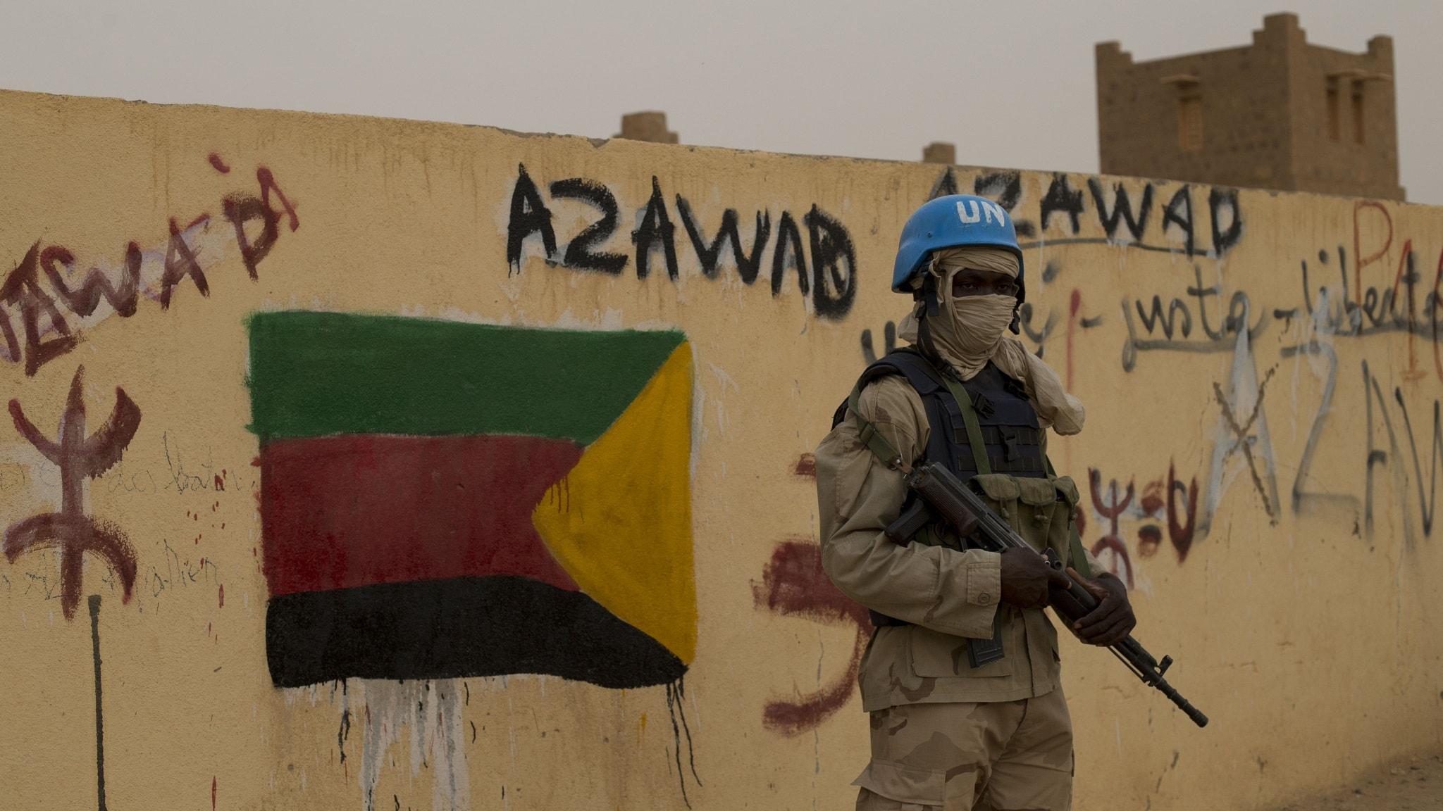 FN mali blå hjälm sahel öken tuareger