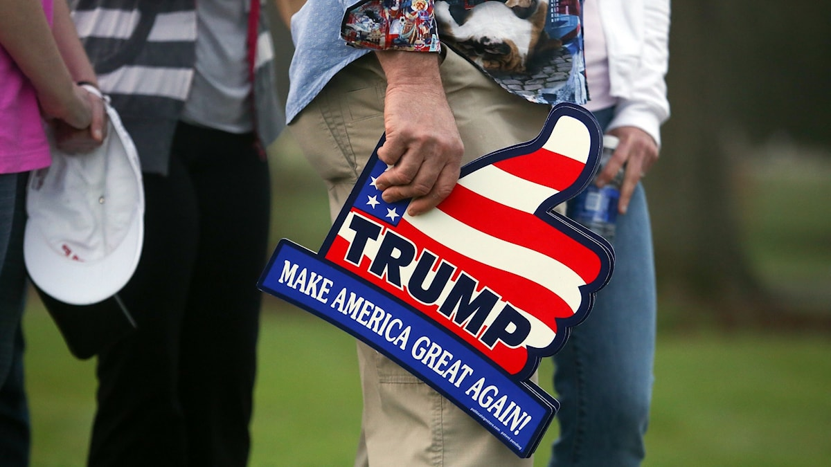Väljare som sätter sitt hopp till den republikanske presidentkandidaten Donald Trump.