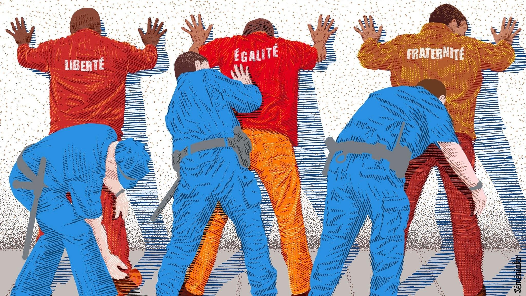 Frihet, jämlikhet och broderskap - för vem? Bild: Boris Séméniako.