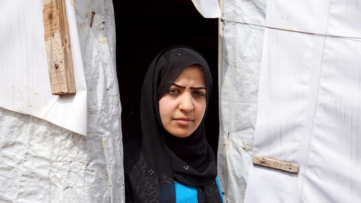 Syrisk flykting i Bekaa-dalen.