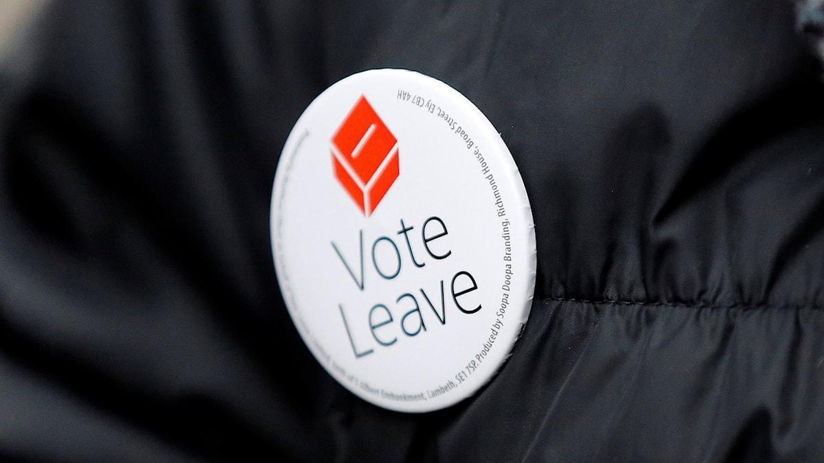 En brittisk förespråkare av att Storbritannien ska lämna EU.