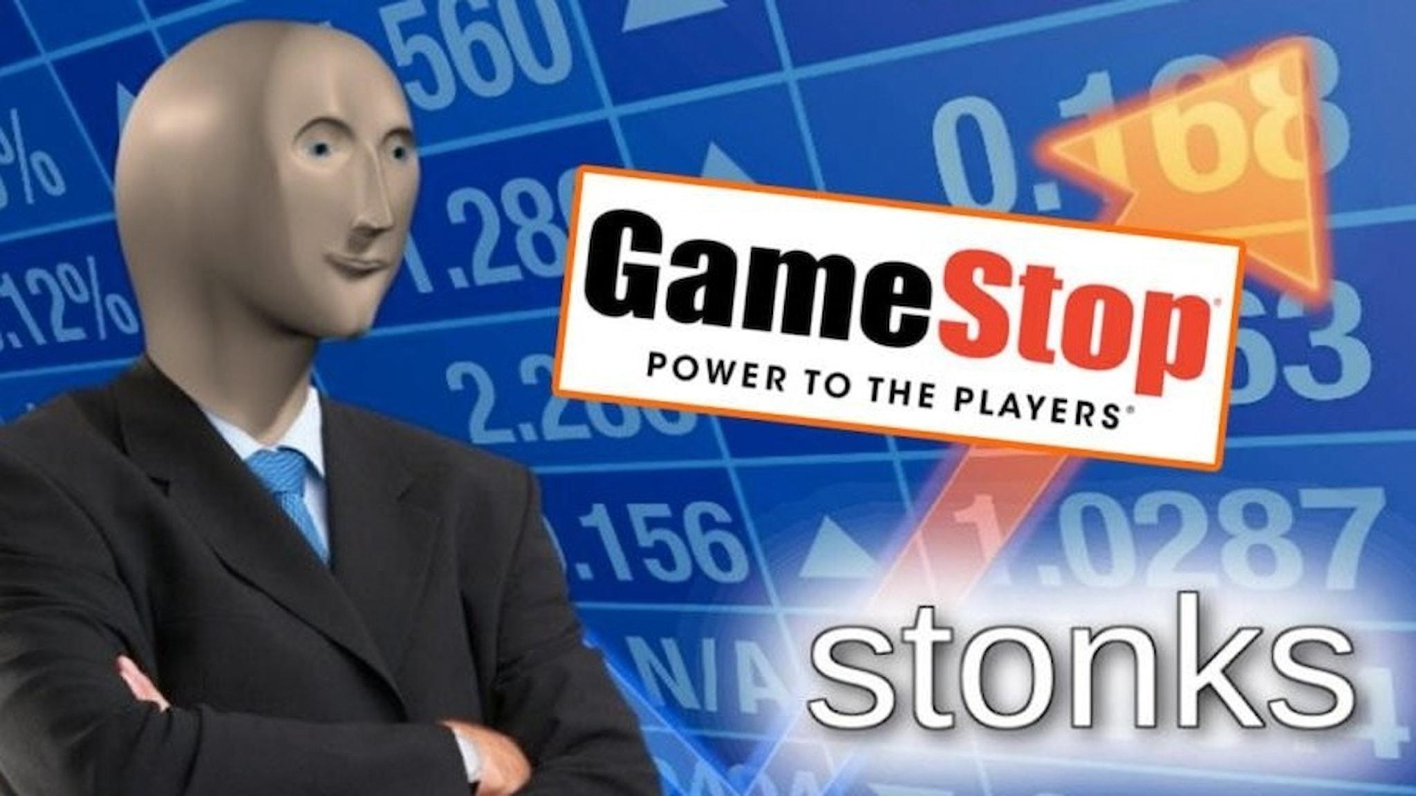 En av alla memes om Gamestop.