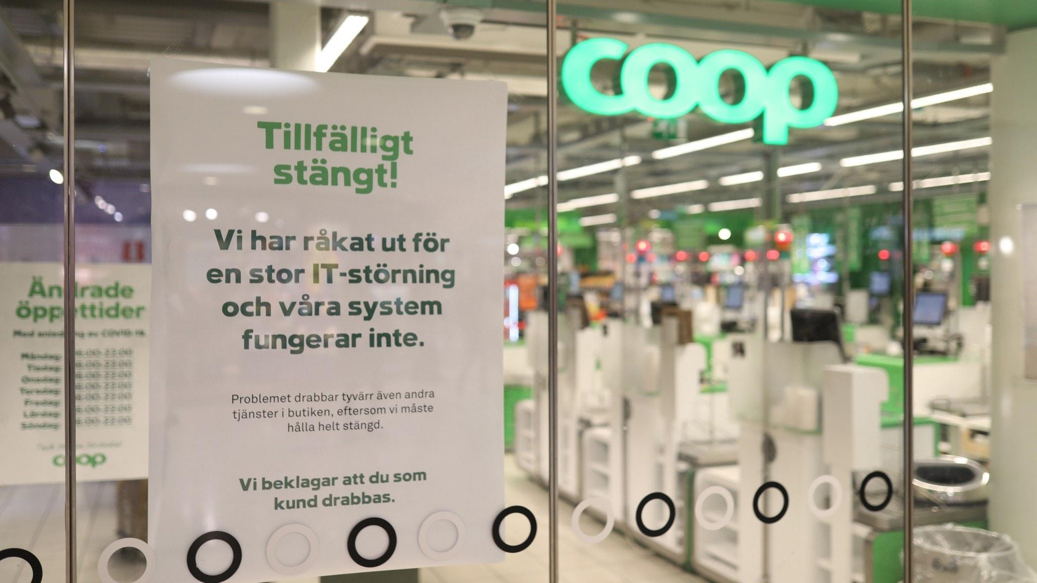 Coop stängt pga IT störning