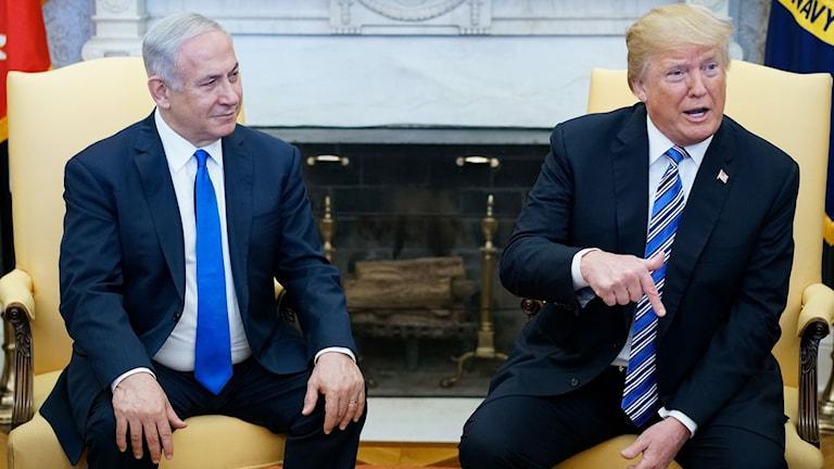 Möte mellan Trump och Netanyahu