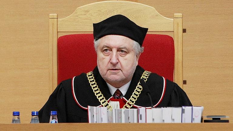 Domare Andrzej Rzeplinski, tidigare chef i Polens konstitutionsdomstol.