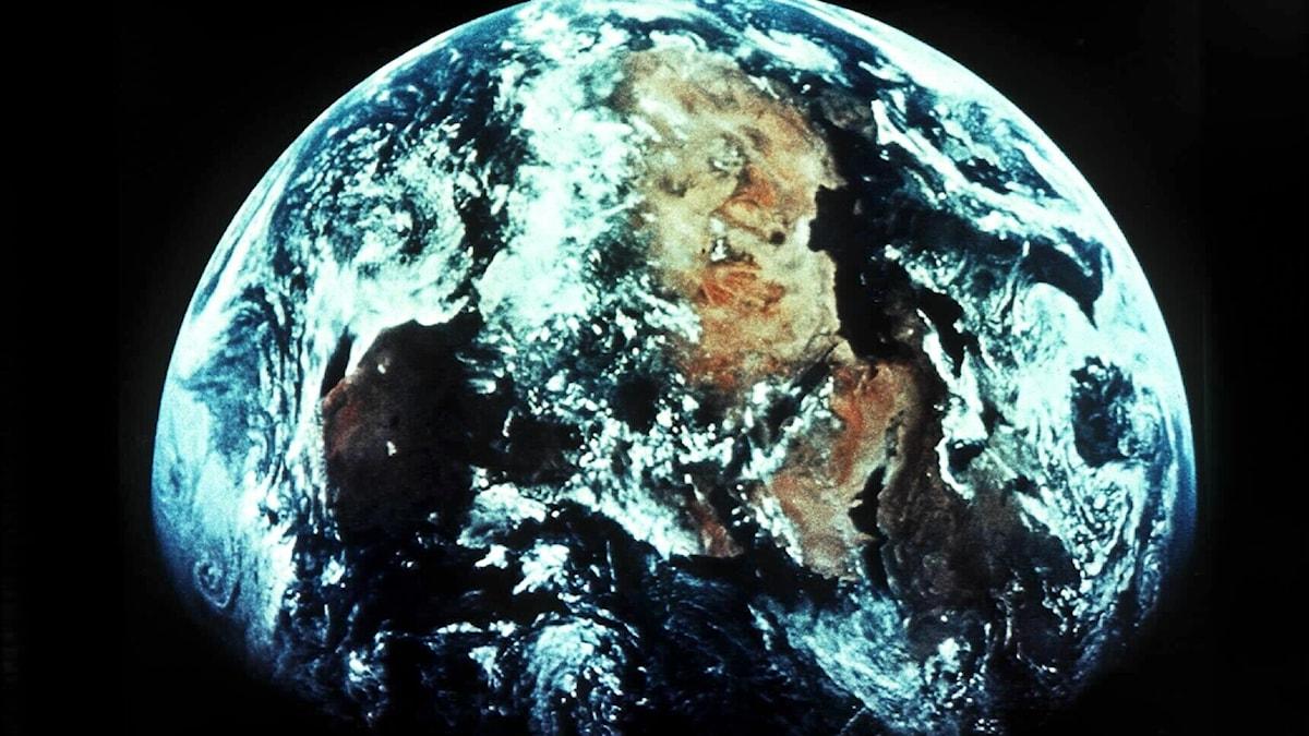 den blå planeten sedd från rymden