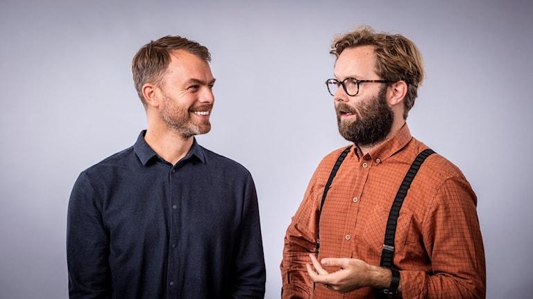 Konflikts programledare Ivar Ekman och Robin Olin