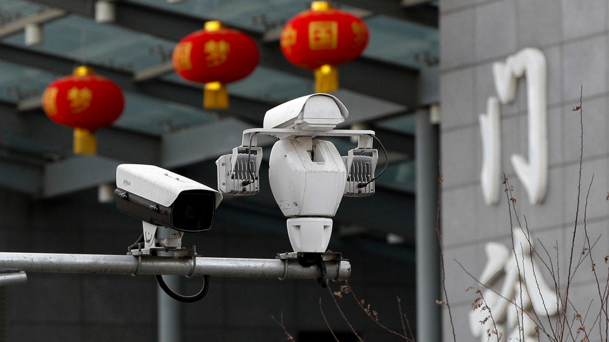 Övervakningskameror med ansiktsigenkänning i Peking.
