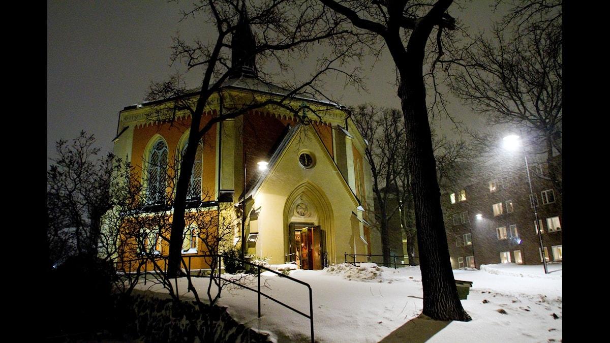 Veckans program sänds från Ersta kyrka i Stockholm. (Foto: Christine Olsson / TT)