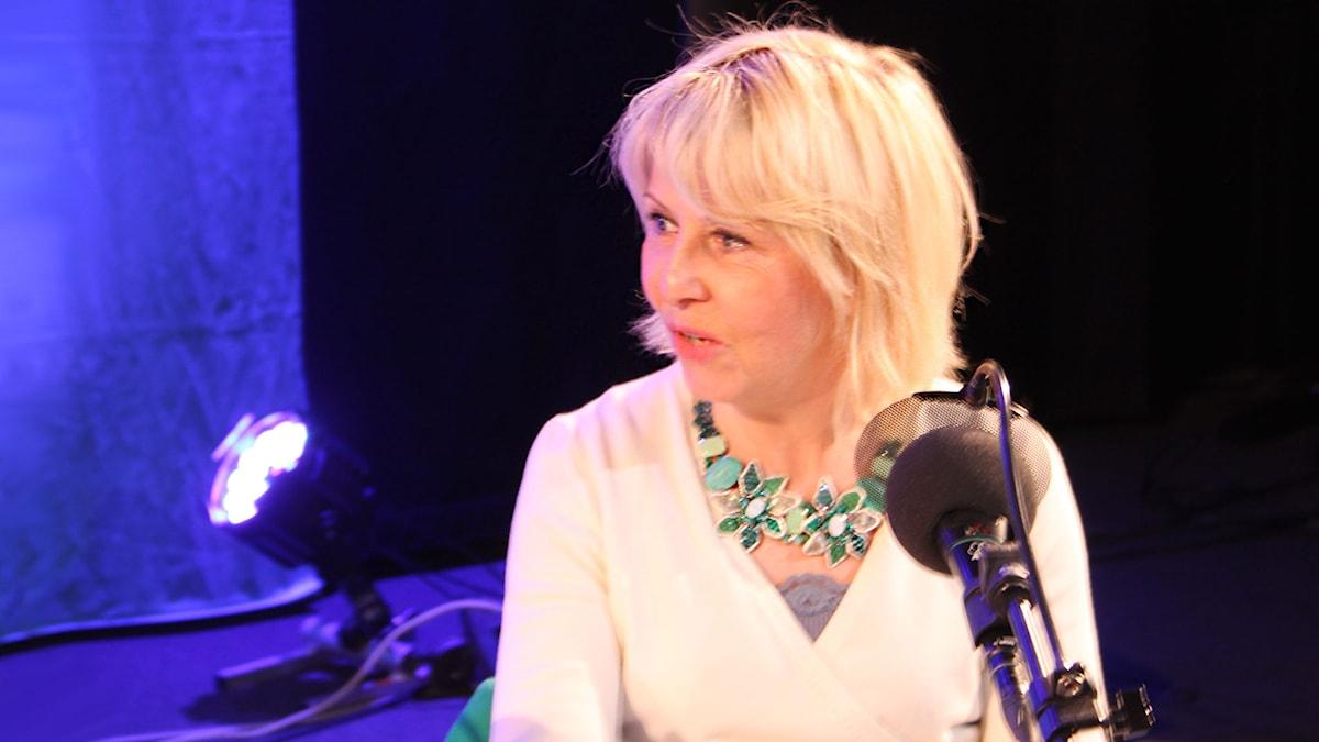 Pia Johansson i På minuten 2015. Foto: Stina Ericsson /Sveriges Radio