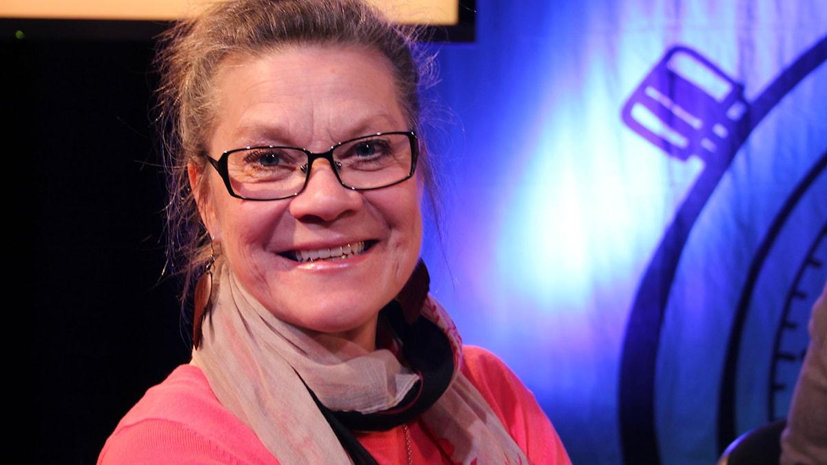 My Holmsten i På minuten 2015. Foto: Stina Ericsson /Sveriges Radio