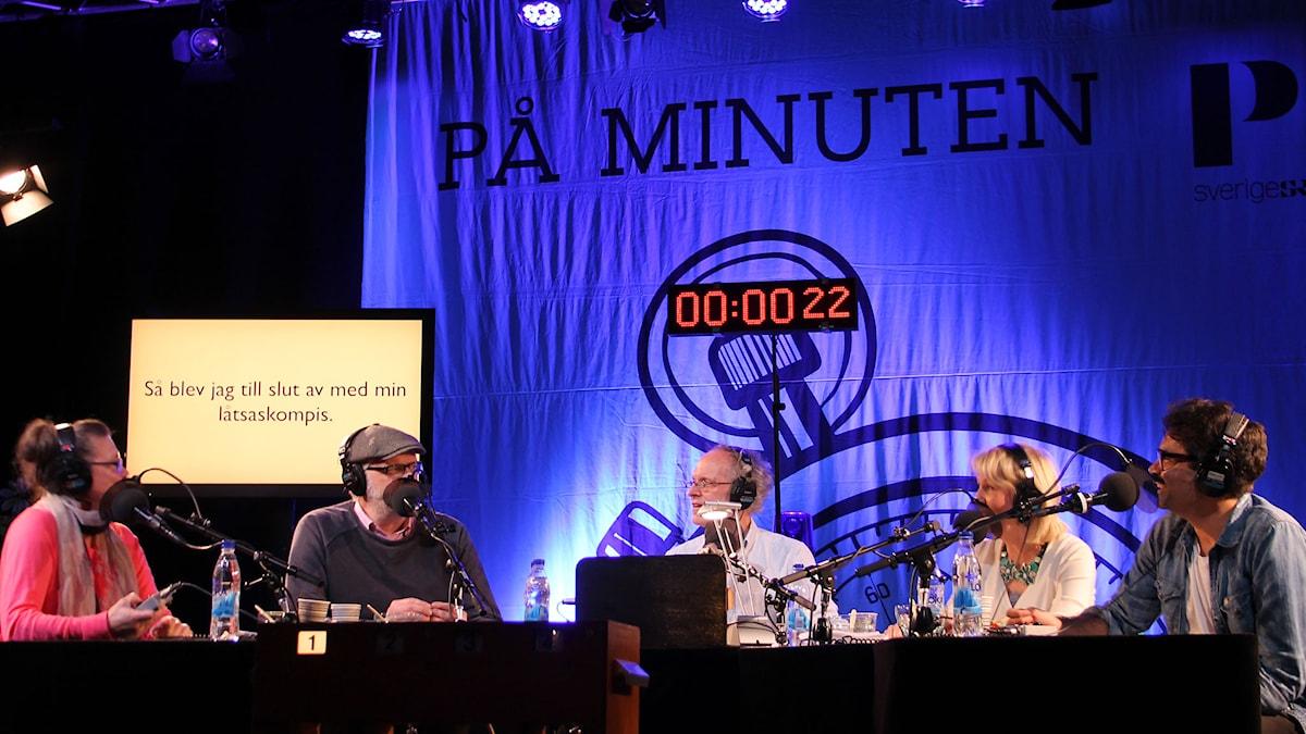 På minuten-inspelning. Foto: Sveriges Radio