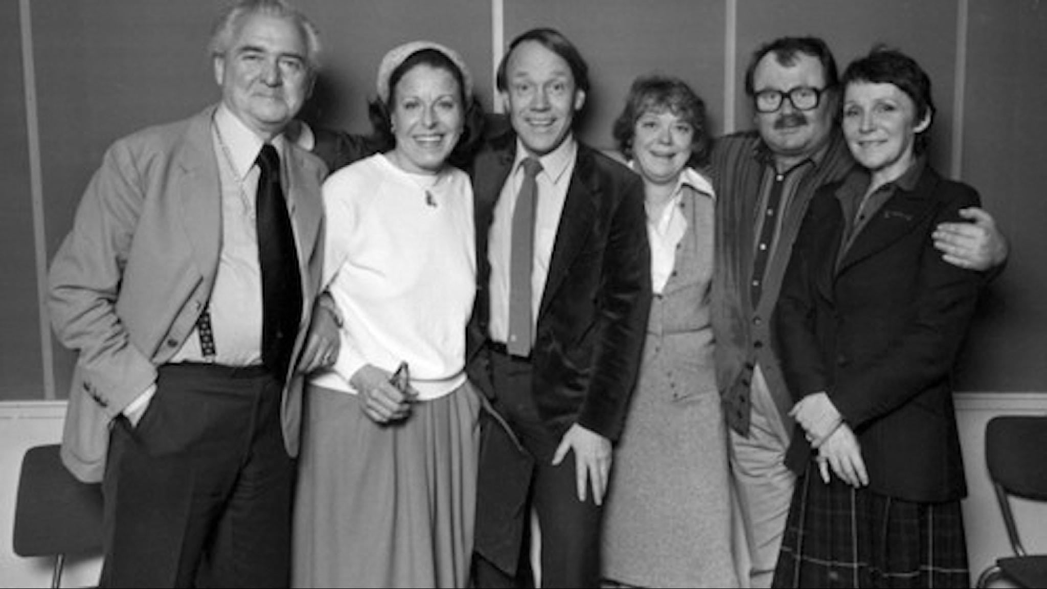 Stig Järrel, Margaretha Krook, Lennart Swahn, Ursula Richter, Molatas Erikson och Cathrin Westerlund.
