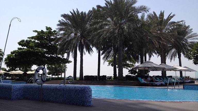 A luxury hotel in Dubai. Photo: Markus Alfredsson/Sveriges Radio