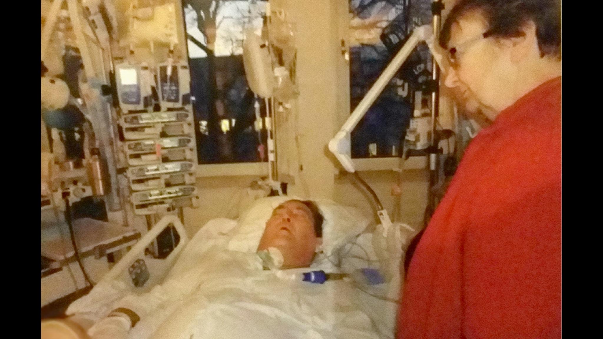 Nils Björneheim fick en hjärnblödning och blev sängliggandes i månader efter en misslyckad näsoperation. Foto: privat